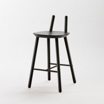 Naïve Semi bar chair black Emko