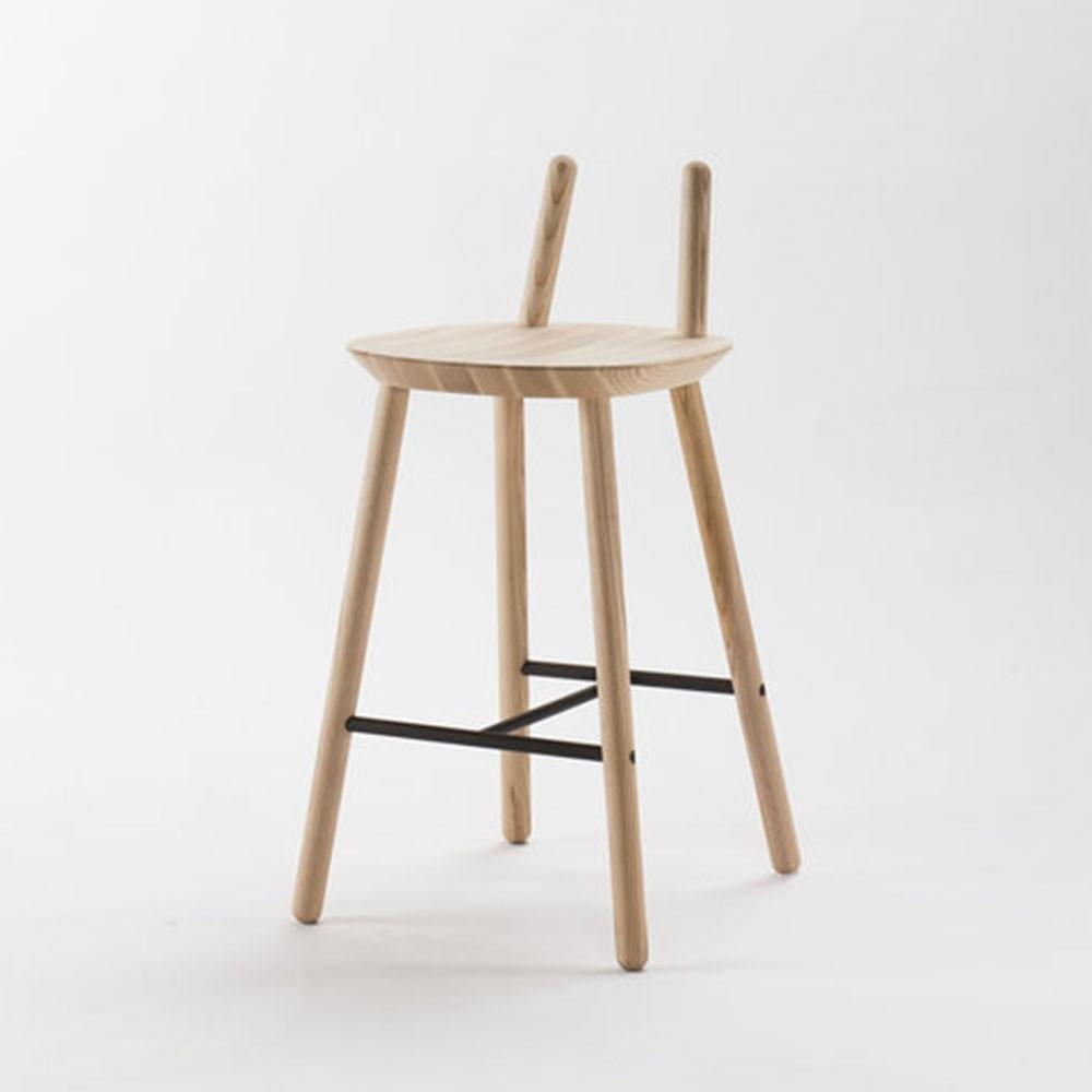 Naïve Semi bar chair natural Emko