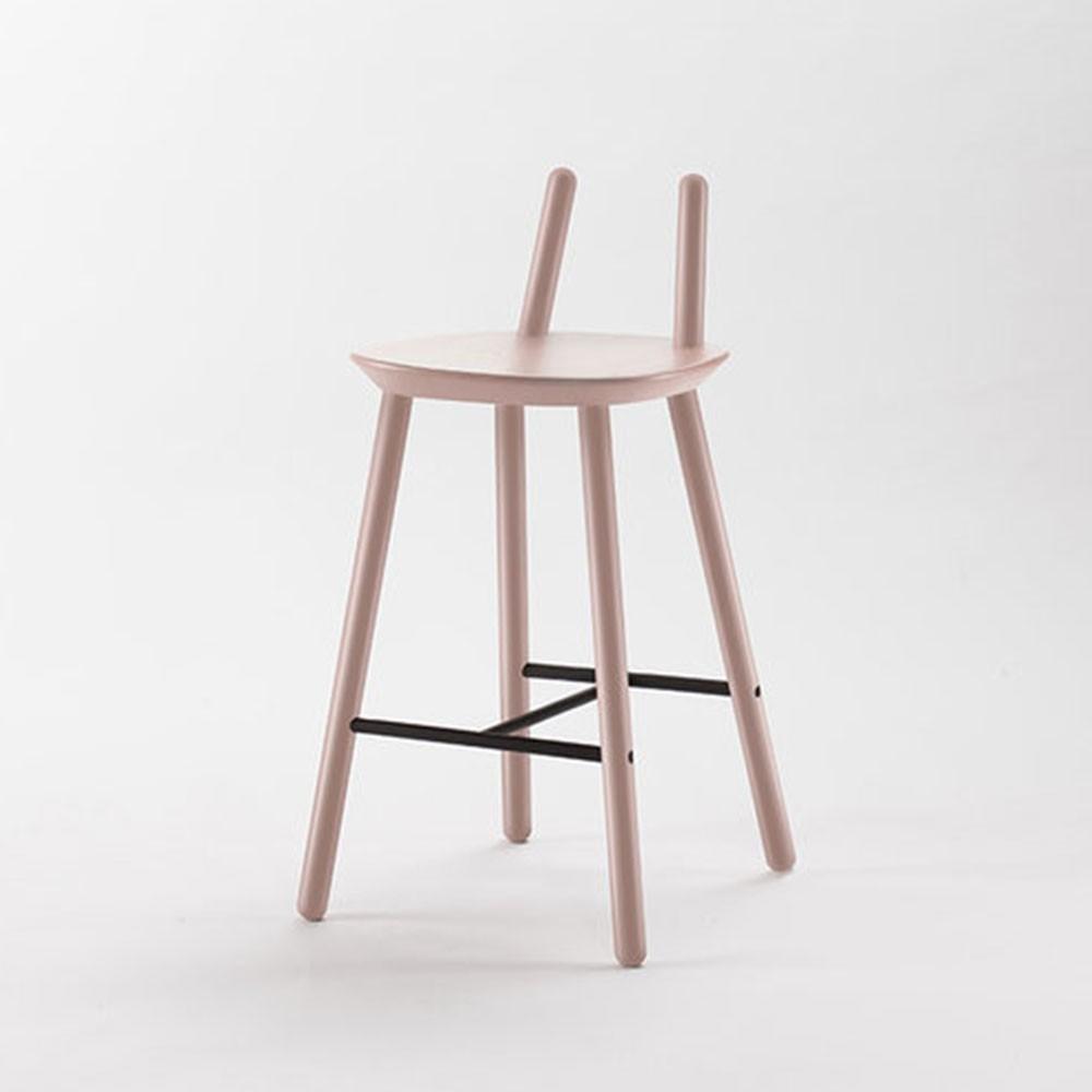 Chaise de bar Naïve Semi rose poudré Emko