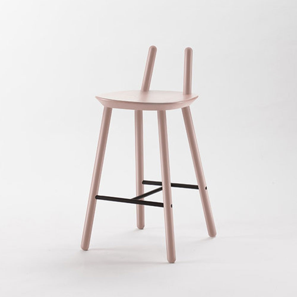 Naïve Semi bar chair dusty pink Emko