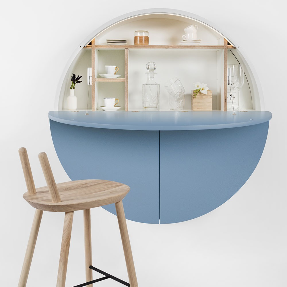 Pill wall desk blue & white Emko