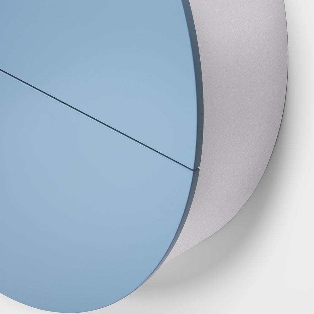 Pill wandbureau blauw & wit Emko