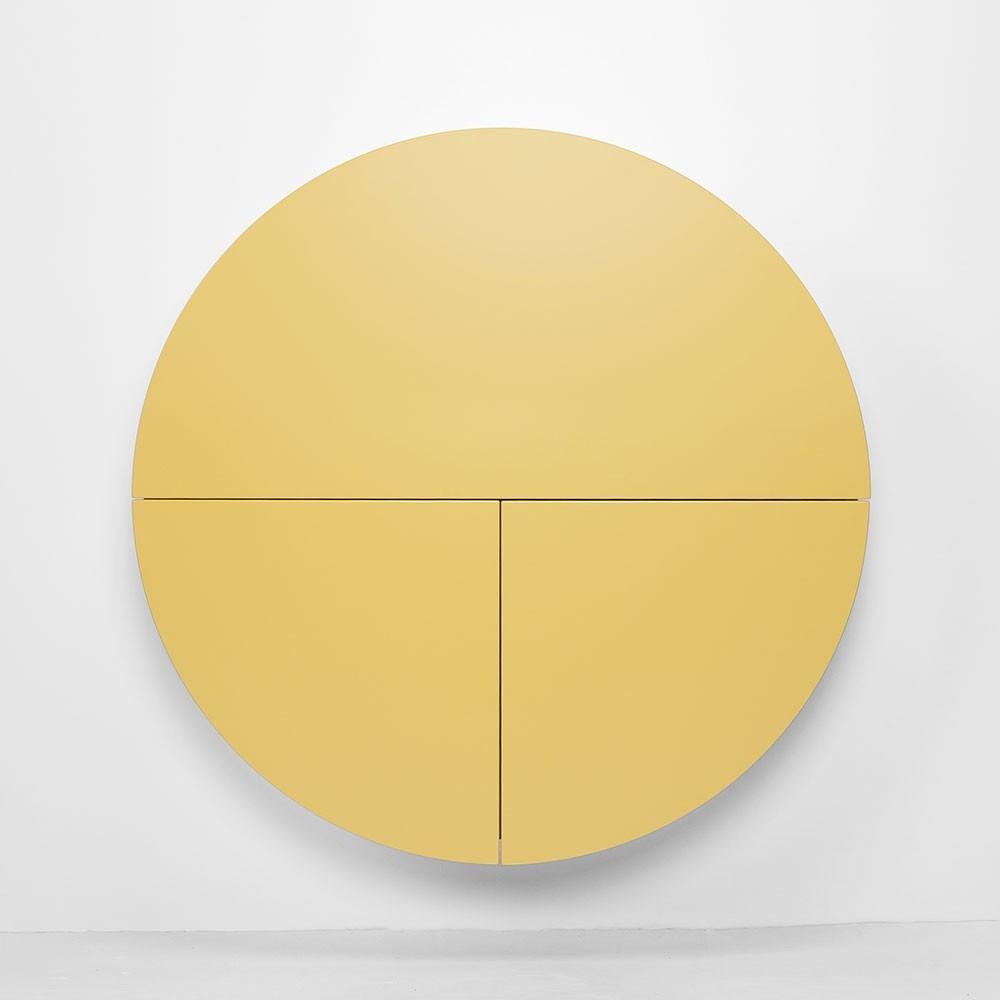 Pill wall desk yellow & white Emko