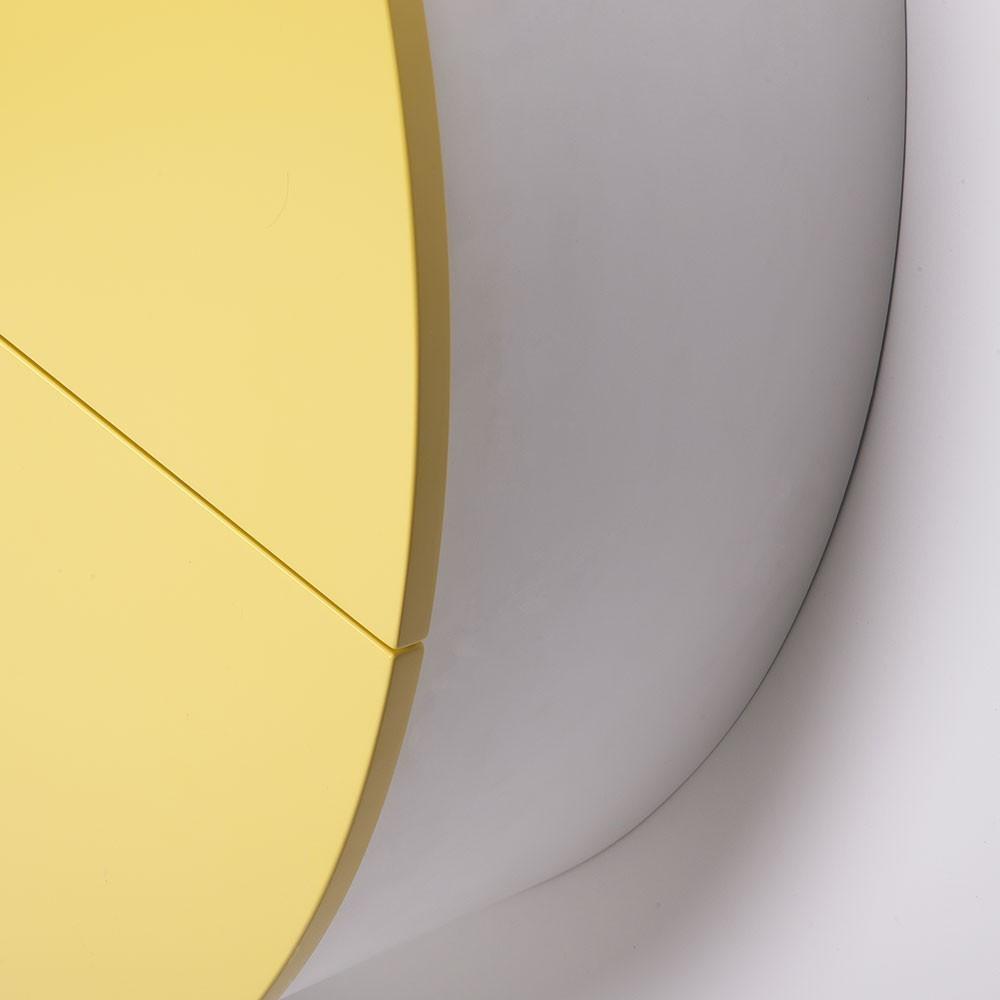 Pill wandbureau geel & wit Emko