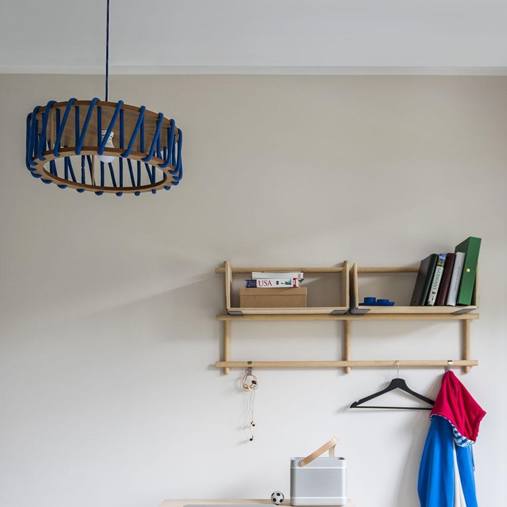 Macaron hanglamp rood S. Emko