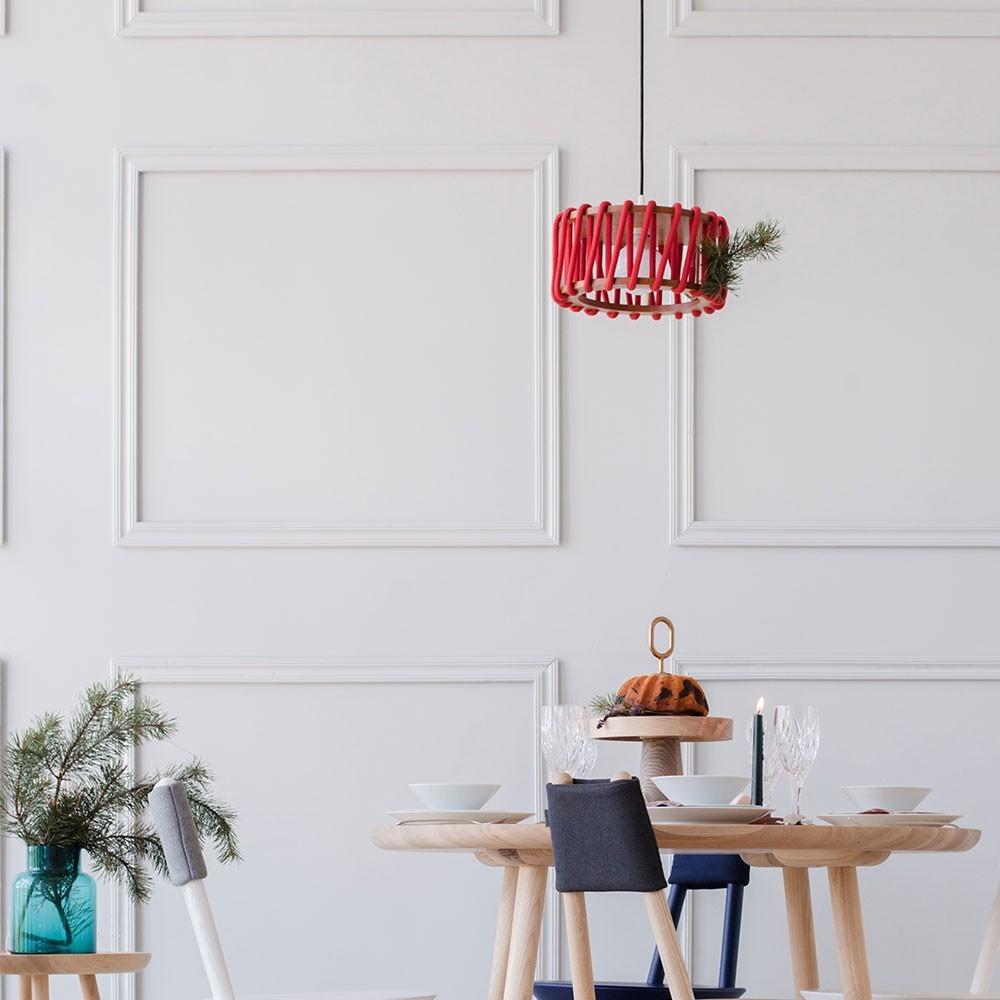 Macaron lamp red S Emko