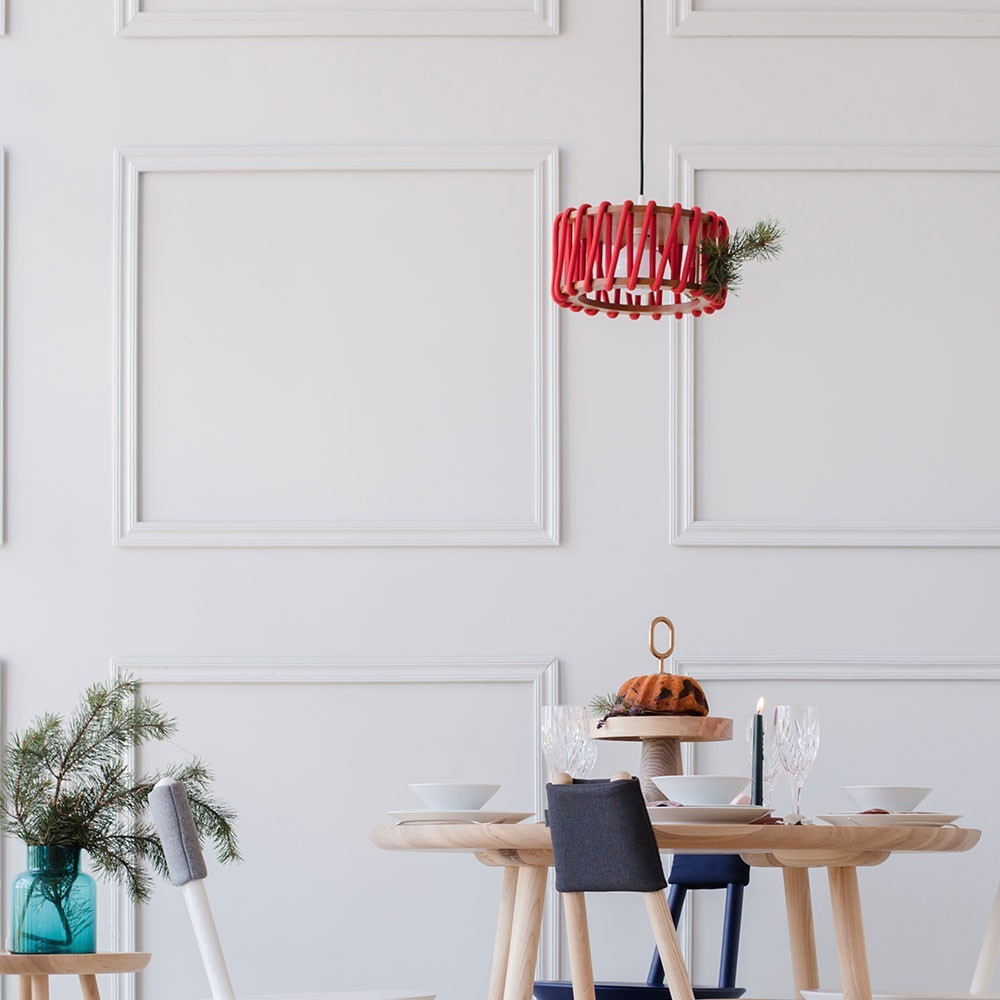 Witte hanglamp Macaron L Emko