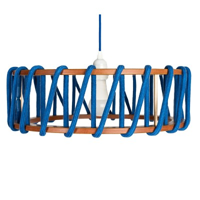 Macaron hanglamp blauw L Emko