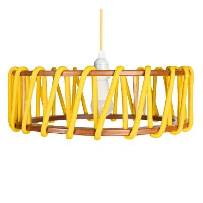 Macaron lampada a sospensione gialla L Emko