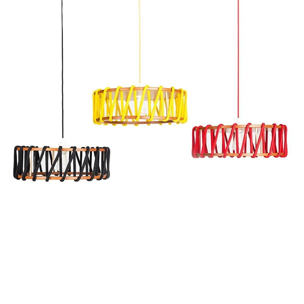 Macaron hanglamp geel L Emko