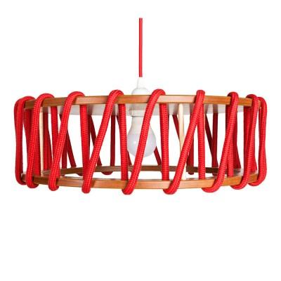 Macaron lampada a sospensione rossa L Emko