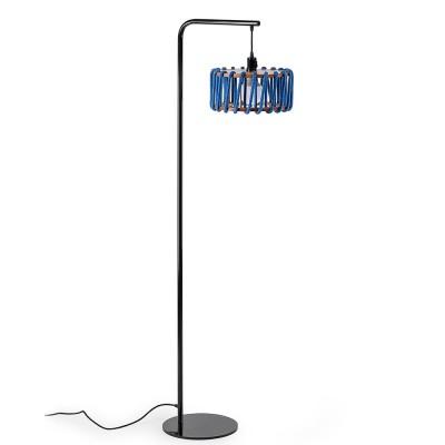 Macaron floor lamp black & blue S Emko