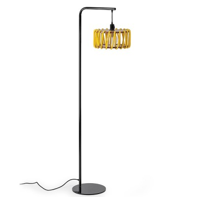 Macaron floor lamp black & yellow S Emko