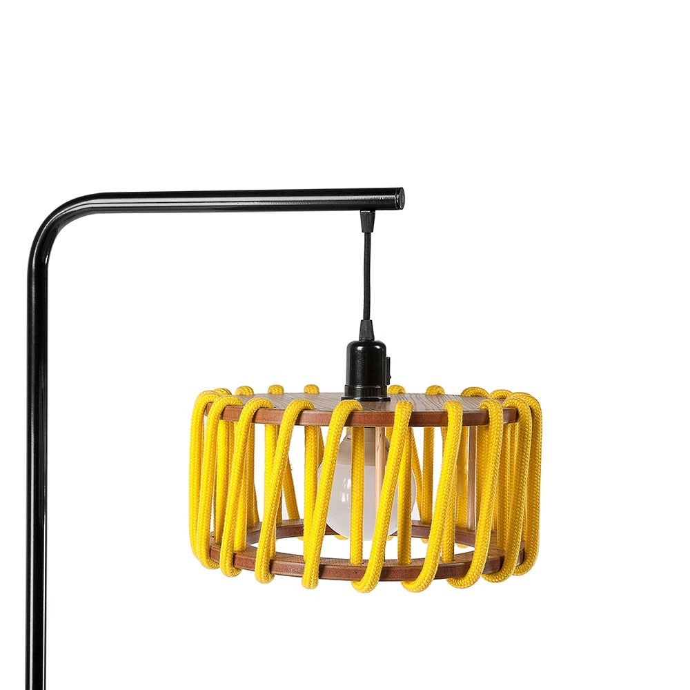 Macaron floor lamp black & yellow S Emko