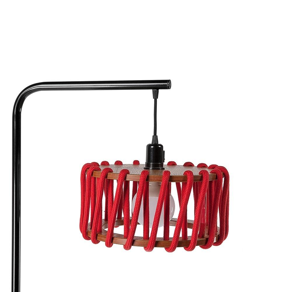 Macaron vloerlamp zwart & rood S. Emko