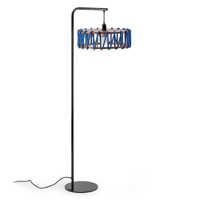 Macaron floor lamp black & blue L Emko