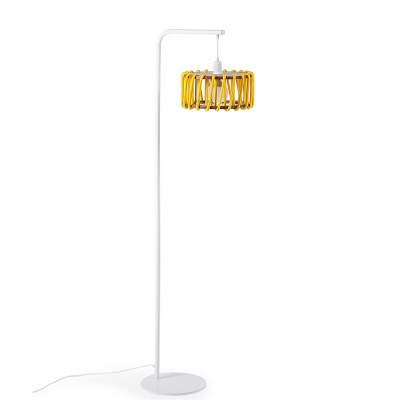 Macaron floor lamp white & yellow S Emko