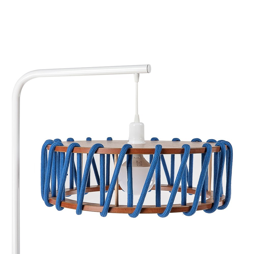Macaron floor lamp white & blue L Emko