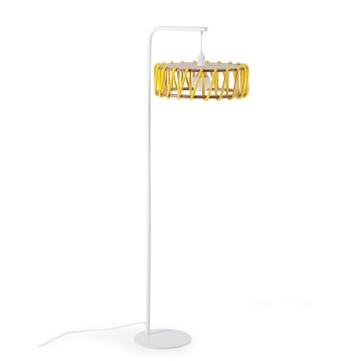 Macaron floor lamp white & yellow L Emko