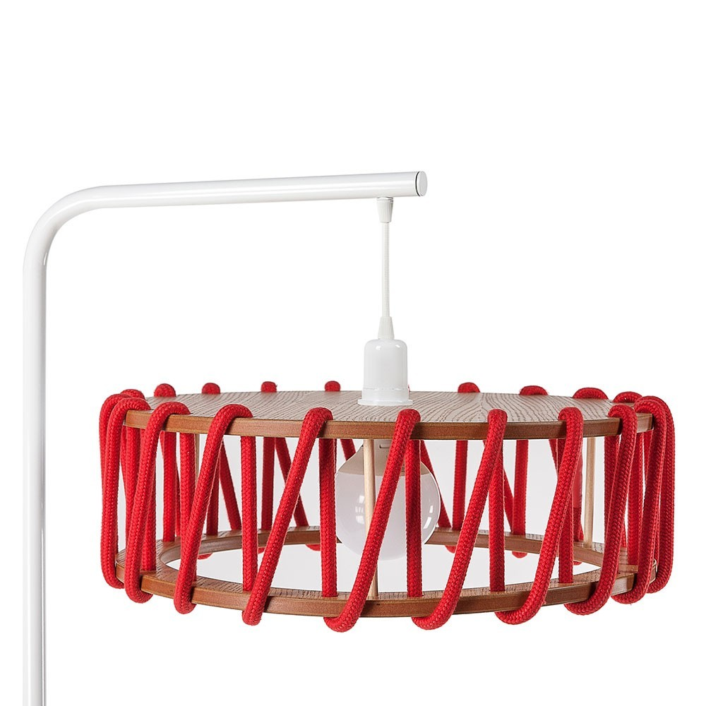 Macaron vloerlamp wit & rood L Emko