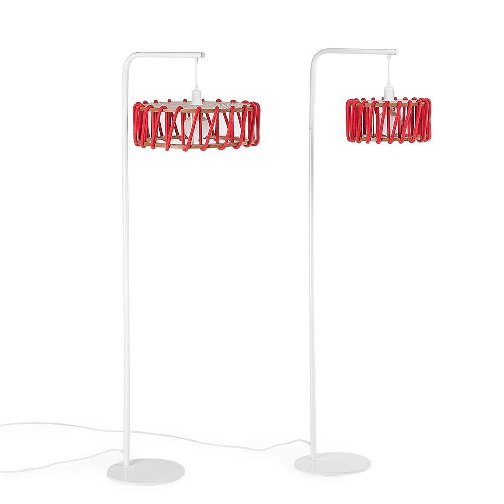 Macaron floor lamp white & red L Emko