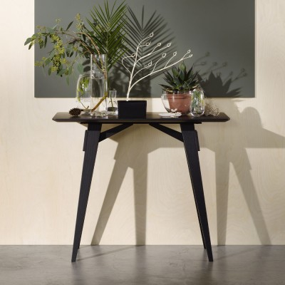 Arco side table black Design House Stockholm