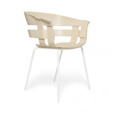 Wick stoel essen & wit metaal Design House Stockholm