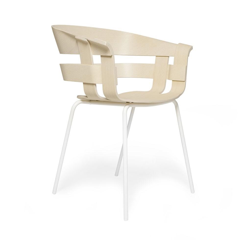 Chaise Wick frêne & métal blanc Design House Stockholm