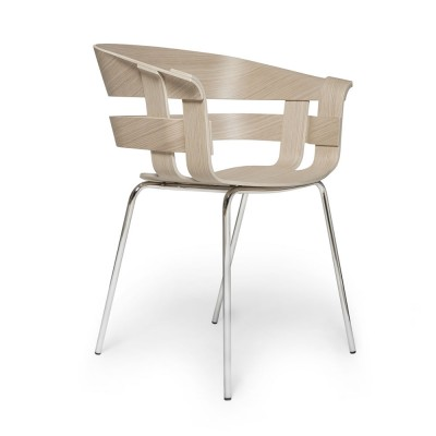 Wick chair oak & chromed metal Design House Stockholm
