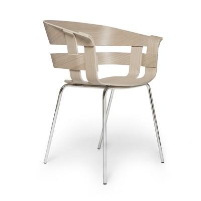 Wick stoel eiken & verchroomd metaal Design House Stockholm