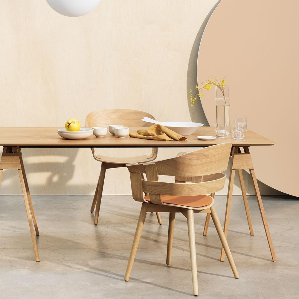 Chaise Wick chêne & métal chromé Design House Stockholm