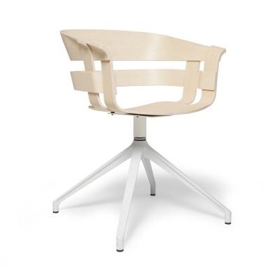 Chaise Wick pivotante frêne & blanc Design House Stockholm