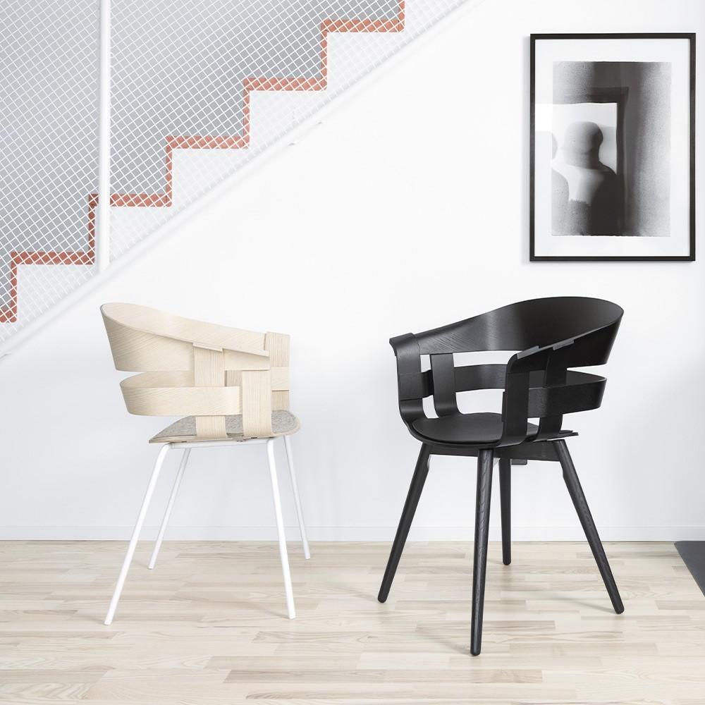 Wick bureaustoel essen & wit Design House Stockholm
