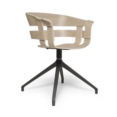 Chaise Wick pivotante chêne & gris foncé Design House Stockholm