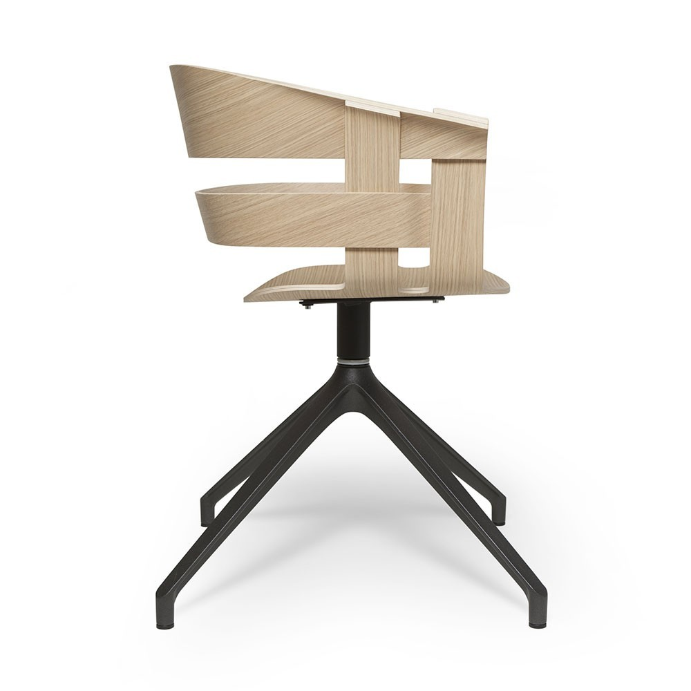 Wick swivel chair oak & dark grey Design House Stockholm