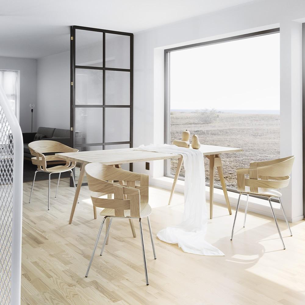 Wick bureaustoel eiken & donkergrijs Design House Stockholm