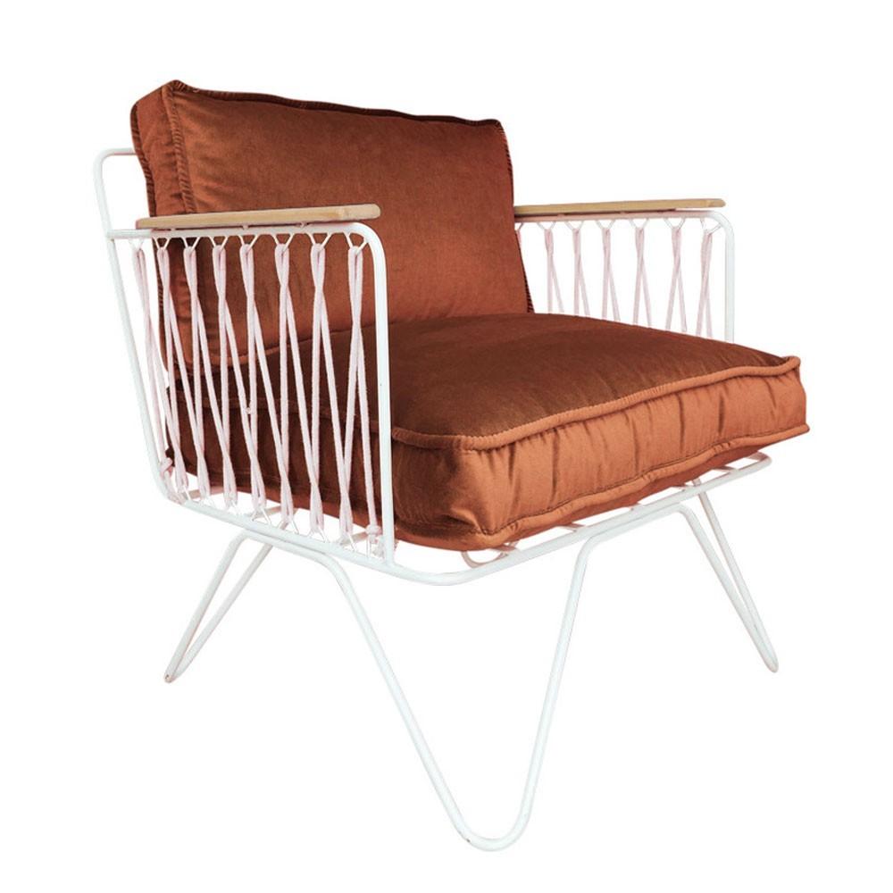 Croisette armchair rust velvet Honoré