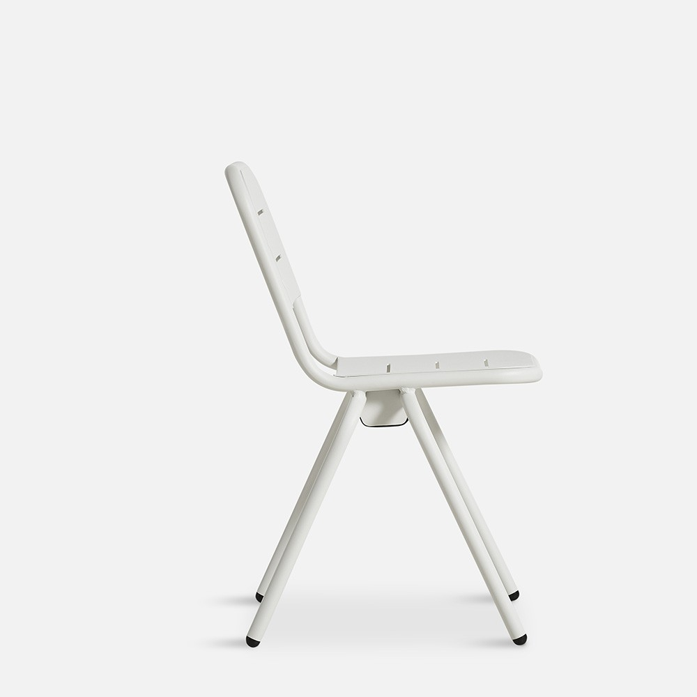 Ray café chair white (set of 2) Woud