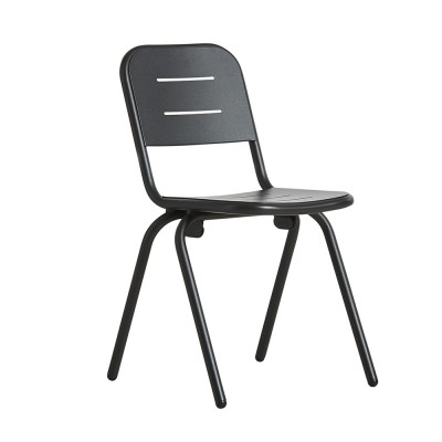 Ray café chair charcoal black (set of 2) Woud