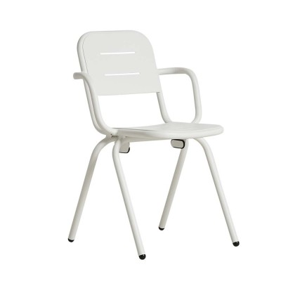 Ray café armchair white (set of 2) Woud
