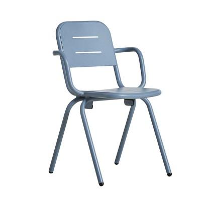 Ray café armchair blue (set of 2) Woud