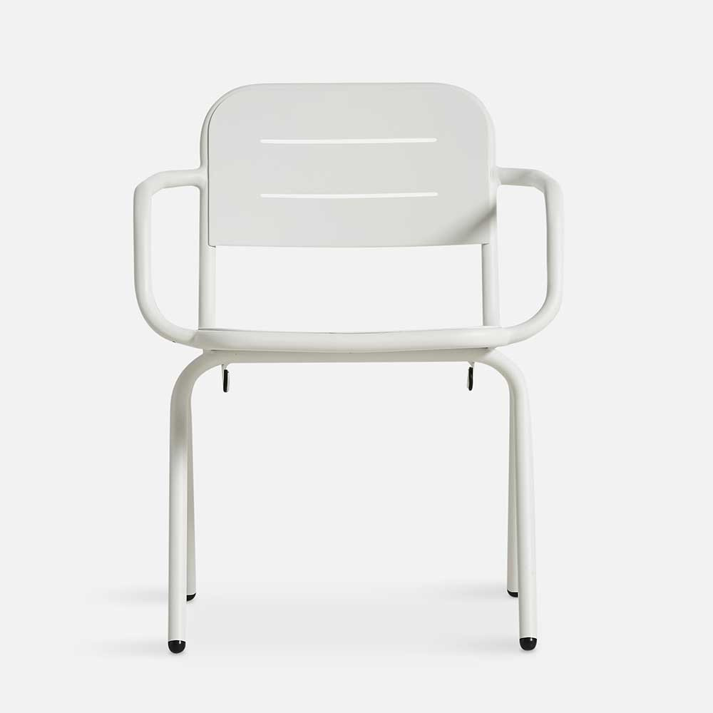 Ray dining chair white (set of 2) Woud