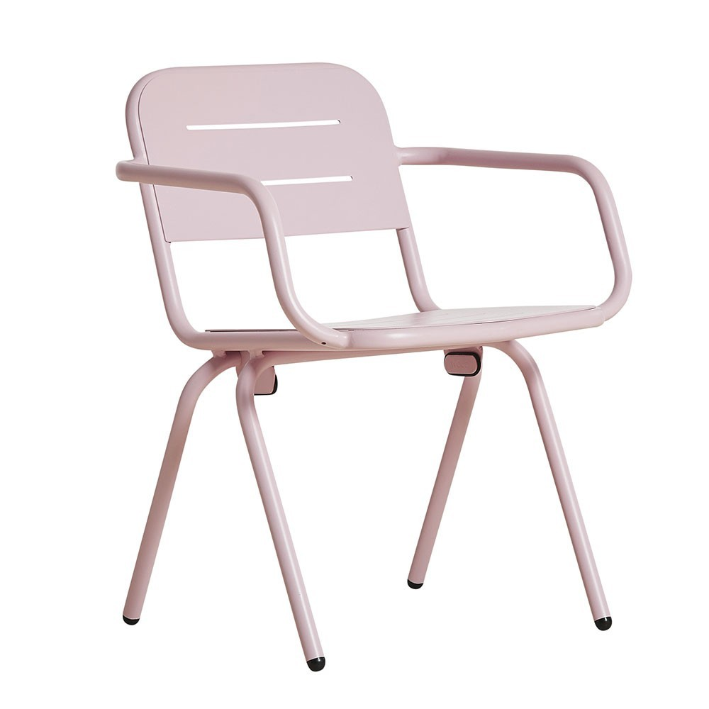 Ray dining chair rose pink (set of 2) Woud