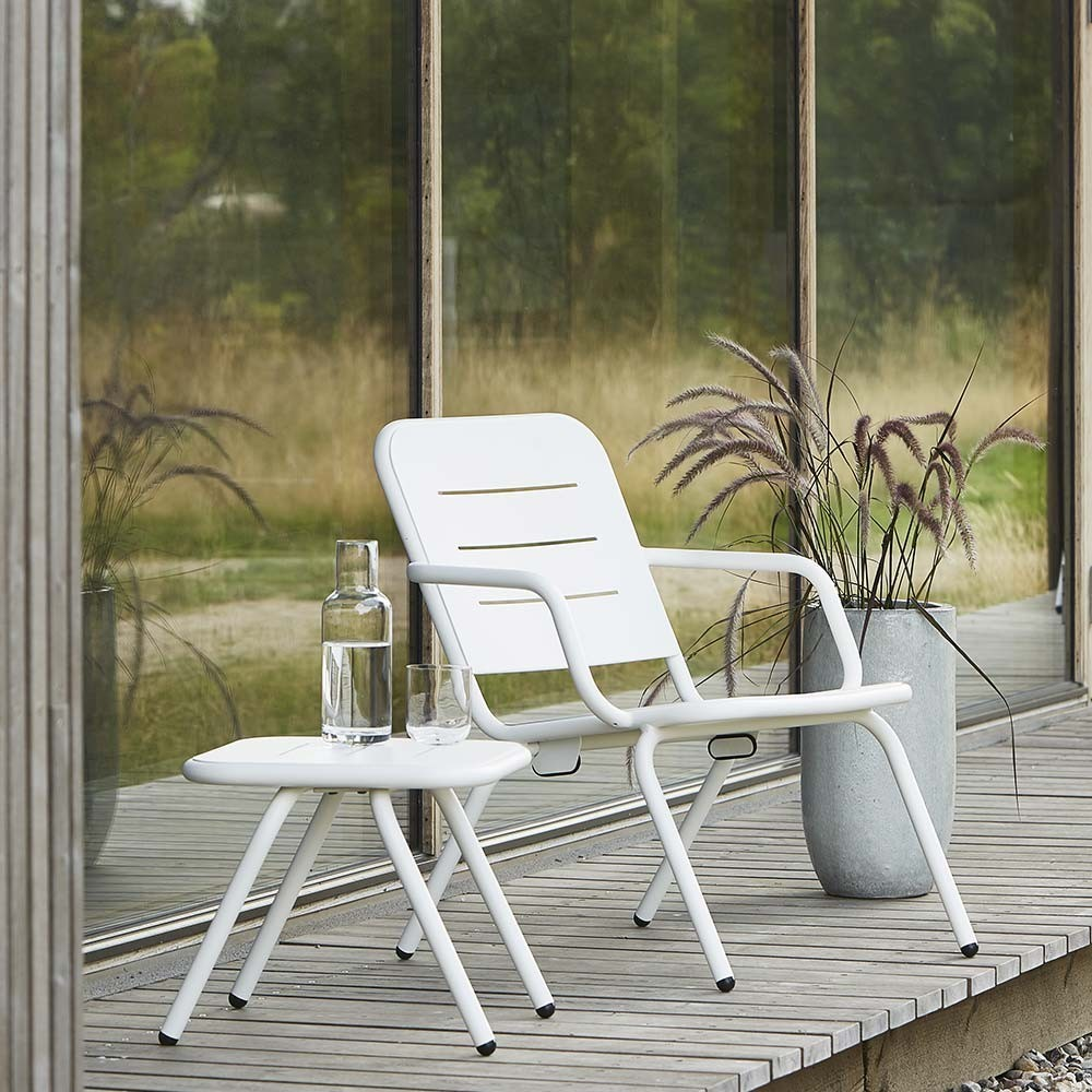 Ray lounge chair white (set of 2) Woud