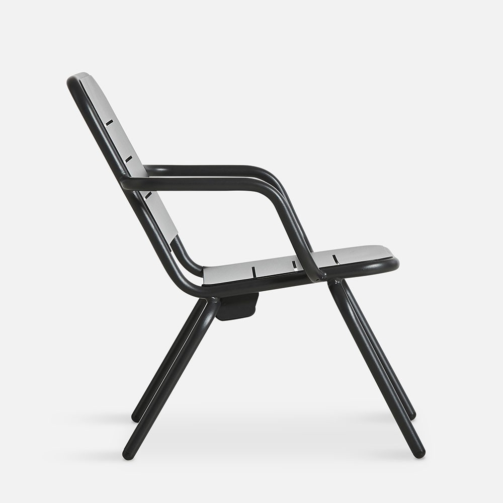 Ray lounge chair charcoal black (set of 2) Woud
