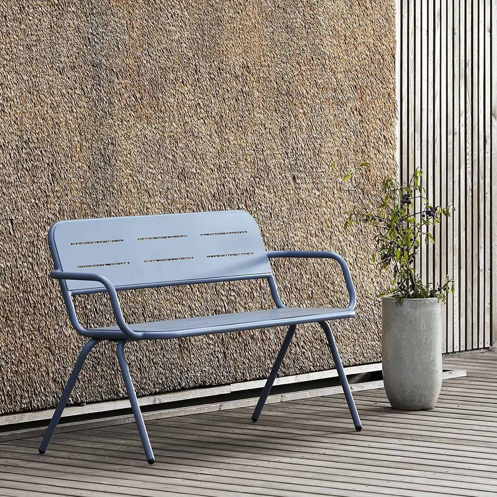 Ray bench charcoal black Woud