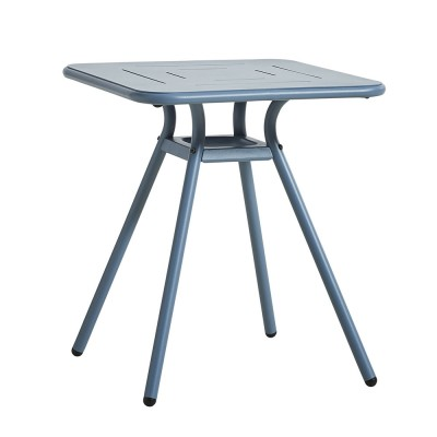 Ray Square café table blue Woud