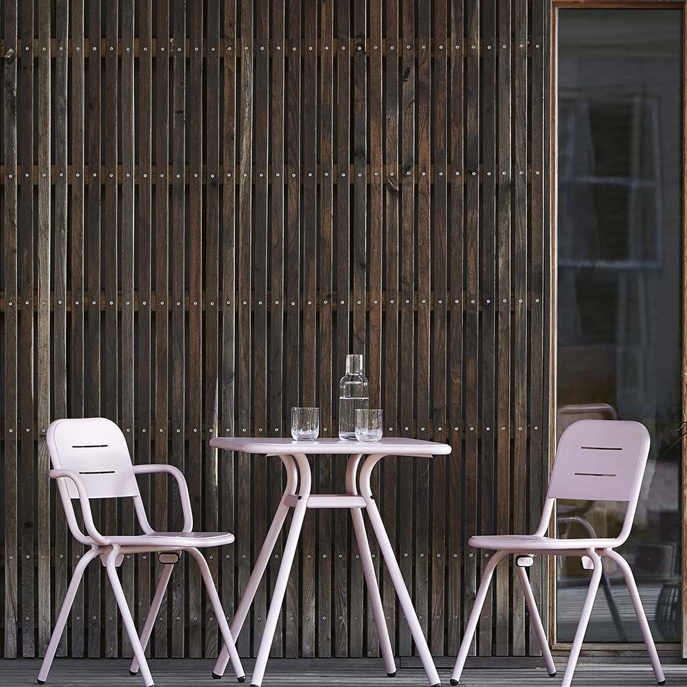 Ray Square café table charcoal black Woud