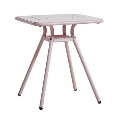 Ray Square café table rose pink Woud