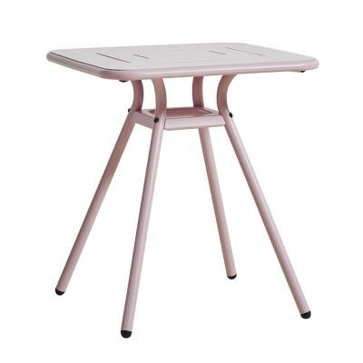 Table de café Ray Square rose pink Woud